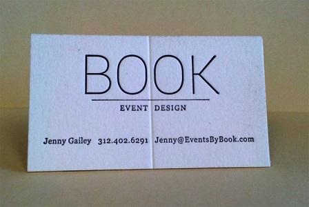 Книжный дизайн визиток