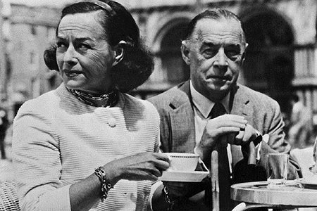 Эрих Мария Ремарк со второй женой Поллет Годар